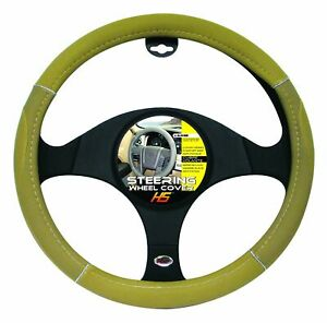 Steering Wheel Cover Tan Chrome Tan 15 To 16 Larger Steering Wheel Covers