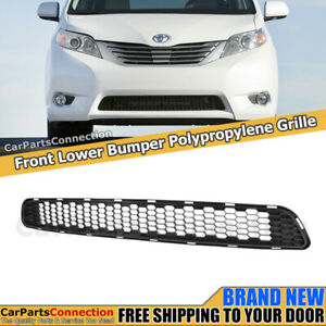 Front Bumper Lower Grille For Toyota Sienna 11 17 Bottom Trim Insert Pp Assembly