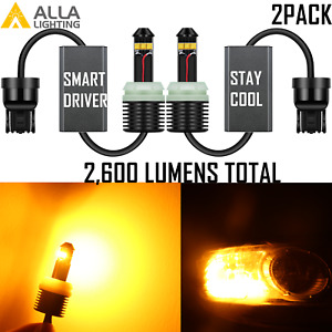 Alla Led Brightest Amber Yellow 7443a Parking Light turn Signal Light For Ford