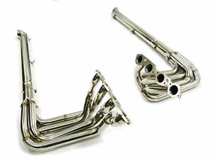 Stainless Maximizer Resonated S Pipe Header Fit 1965 To 1974 Corvette C3 Bb