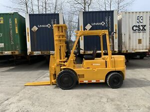 Mitsubishi 8 000 Lbs Pneumatic Forklift 3 Stage Side Shift Toyota Hyster
