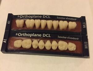 Ivoclar Vivadent Orthoplane Dcl 2 Cards Of A1 Teeth For Dental Lab Materials