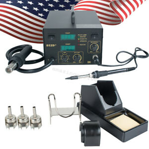 Usa 2 In1 Hot Air Gun Unit Soldering Rework Station Welding Solder Machine 852d