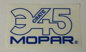Mopar 345 Crate Racing Decal Sticker 2 5x4 Free Shipping Offroad Bitd Imsa Drags