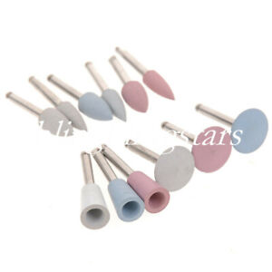 12 Pcs Dental Silicone Grind Polisher Head For Low speed Composite Polish 4 Size