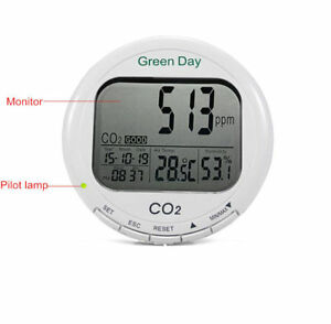 Carbon Dioxide Detector Desktop Co2 Gas Detector Alarm Meter With Lcd Display