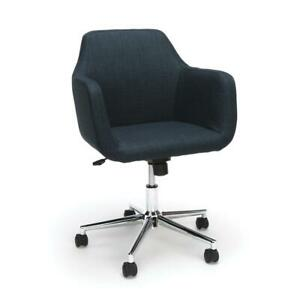Essentials By Ofm Ess 2085 Upholstered Home Office Desk Chair Blue
