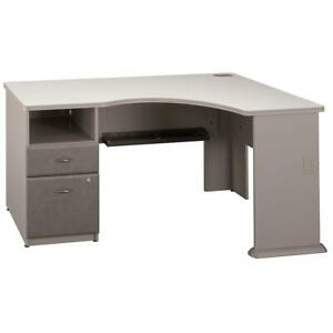 Series A Corner Desk With 2 Drawer Pedestal