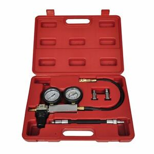 Cylinder Leak Down Tester Leakage Detector Set Engine Compression Gauges W Case