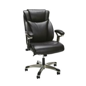 Ofm Essentials Series Ergonomic Executive Bonded Leather Office Chair In