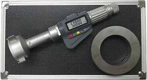 3 point Internal Micrometer Hole Bore Gauge Gage 1 6 2 0 0 00005 0 001mm