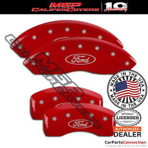 Mgp Caliper Brake Cover Red 10007sfrdrd F R For Ford Transit Connect 16 17