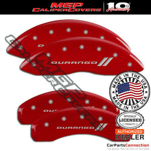 Mgp Caliper Brake Cover Red 12204sdgord Front Rear For Dodge Durango 2018 2019
