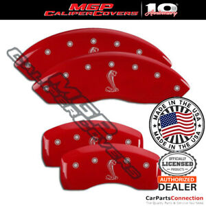 Mgp Caliper Brake Cover Red 10017ssnkrd Front Rear For Ford Mustang 2003 2004