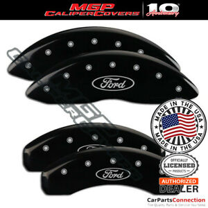 Mgp Caliper Brake Cover Black 10020sfrdbk Front Rear For Ford Expedition 05 06