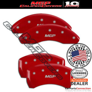 Mgp Caliper Brake Cover Red 15212smgprd Front Rear For Audi A3 2010 2011