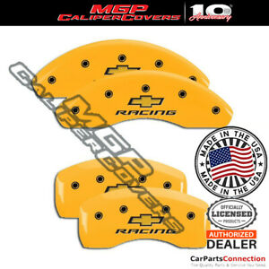 Mgp Caliper Brake Cover Yellow 14229sbrcyl Front Rear For Chevrolet Sonic 15 16