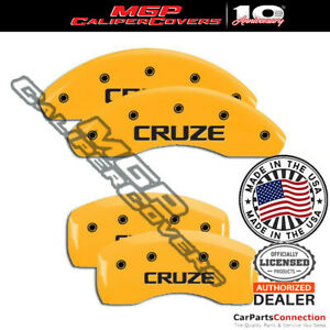 Mgp Caliper Brake Cover Yellow 14232scrzyl Front Rear For Chevrolet Cruze 15 16
