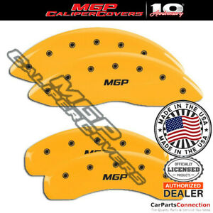 Mgp Caliper Brake Cover Yellow 36013smgpyl Front Rear For Lincoln Town Car 09 10
