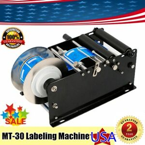 Mt 30 Semi automatic Round Bottle Labeling Machine Labeler Machine Inductor