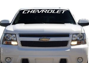 2 Chevrolet Chevy Windshield Banner Decal Sticker Tahoe Silverado 36 X 2 70