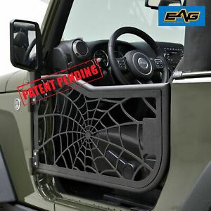 Eag Tube Spyder Web Door With Reflection Mirror For 07 18 Jeep Jk Wrangler 2dr