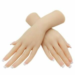 1 Pair Silicone Lifesize Female Mannequin Hand Display Jewerly Sandal Shoe Sock
