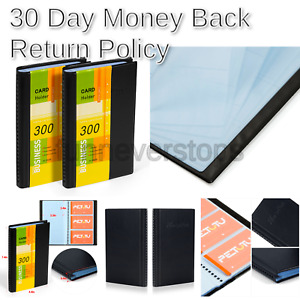Business Card Holder Organizer Book Pu Leather 2 Pack Total For 600 Busine