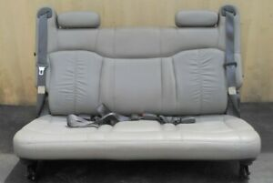 00 06 Chevy Suburban 1500 Rear Bench Folding Seat 3rd Third Row Gray Leather