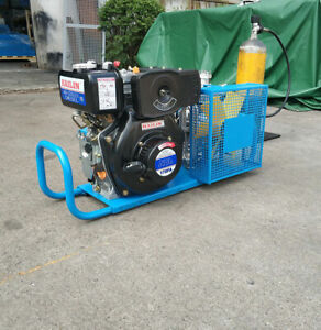 High Pressure Air Compressor Pump Hailin Diesel Engine 100l min Air Cool 4500psi