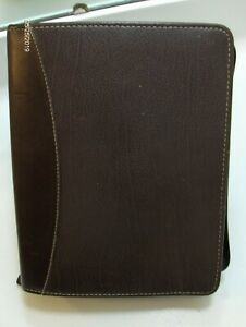 Franklin Covey Classic 7 Gold Ring Binder 1 1 2 Maroon Verona Leather Aniline12