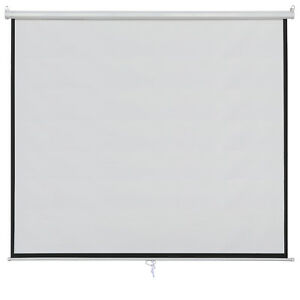 100 Projector Screen 16 9 Home Cinema Theater Projection Canvas Matte White