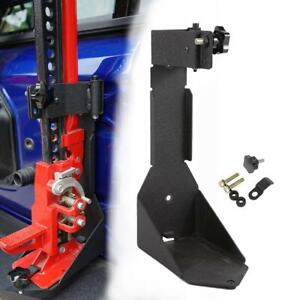 For Jeep Wrangler Jl 2018 2019 High Lift Jack Mount Hood Bracket Black Oe Style