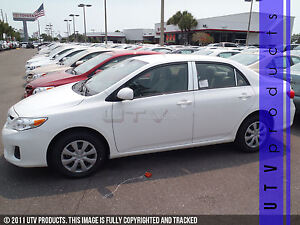 Gtg 2009 2013 Toyota Corolla 6pc Chrome Stainless Steel Pillars Posts