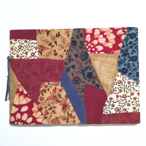 Patchwork Journal Notebook 10 75x7 75 Fabric Hand Made Designer Urban Outfitters