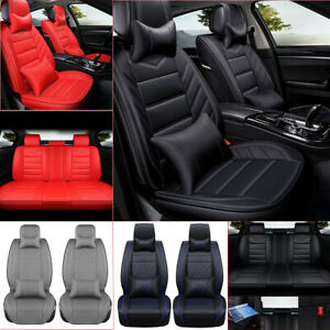 Luxury Durable Leather Car Seat Covers Protector 5 Seats Suv Front