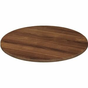Lorell Chateau Series Round Conference Table Top 4 w Walnut