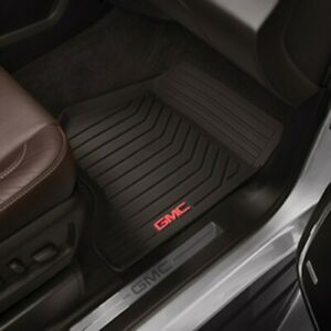 23452763 Sierra Front All Weather Floor Mats In Cocoa With Gmc Logo