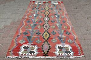 Vintage Anatolia Turkish Kilim Small Rug 40 1 X66 9 Turkish Area Rug Carpet
