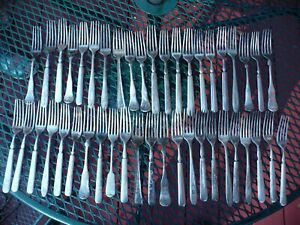 Lot Of 44 Silver Plated Forks For Crafts Jewelry Scrap Wind Chimes