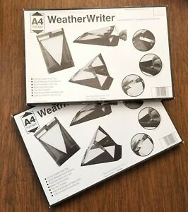Waterproof Clipboards Weatherwriter A4 Portrait Letter Document Storage Lot Of 2