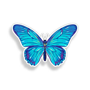 Blue Butterfly Sticker Colorful Laptop Cup Car Vehicle Window Bumper Vinyl Decal