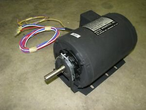 Magnets Electric Motor 2hp 1725 Rpm 3 phase 208 230 Volt Ac Military Surplus