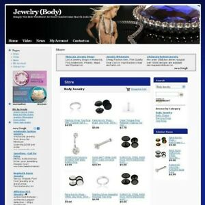 Established Online Body Jewelry Shop Business Website For Sale Free Domain Name