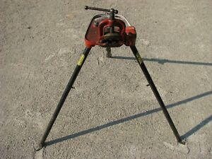 Ridgid No 40 Tri stand Pipe Vice Tristand Threading Plumbing Holding Clamp