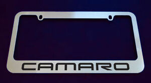 1 Chevrolet Camaro License Plate Frame Chrome Metal