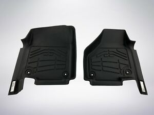 2 Pc Front Row Black Floor Mats 2012 2019 Dodge Ram Classic 1500 Regular Cab