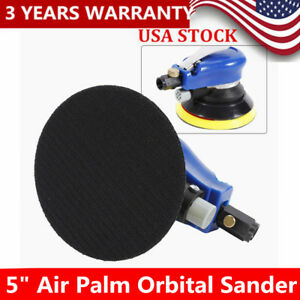 New 5 Air Palm Orbital Sander Random Hand Sanding Pneumatic Round Wrench Usa
