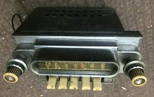 Vtg 1960 S Ford Deluxe Am Radio Receiver In Dash Car Auto Truck Stereo Antique