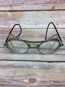 Vintage Bausch Lomb 22 47 Safety motorcycle Glasses With Side Shields